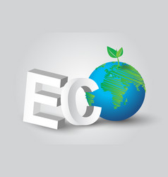 eco green tree earth concept vector image