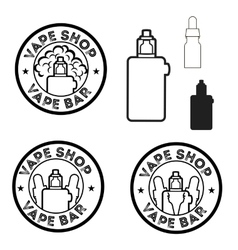 Electronic cigarettes set vector image