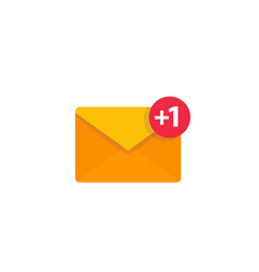 Email sms incoming message icon on white vector