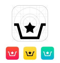 Favorites in basket icon vector