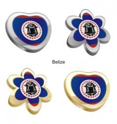 flag of Belize vector image vector image