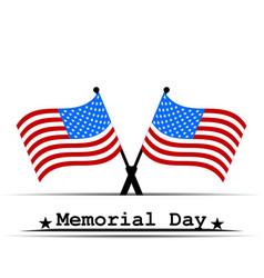 flag usa memorial day vector image