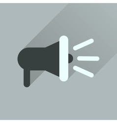 Flat icon with long shadow loudspeaker sound vector