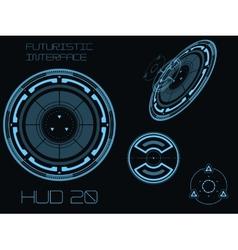 Futuristic user interface HUD vector