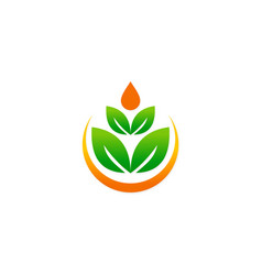 green leaf beauty meditation logo vector image