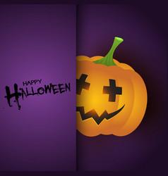 Halloween background with cute pumpkin vector