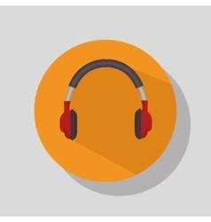 headphone music device vector image