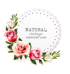 Holiday vintage greeting card with colorful vector