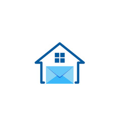 home mail logo icon design vector image