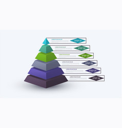infographic pyramid with step structure business vector image