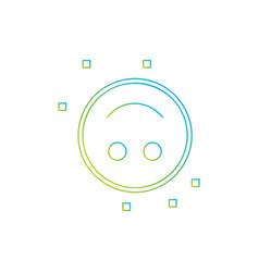 inverted smile emoji icon vector image
