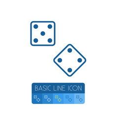 isolated dice outline die element can be vector image