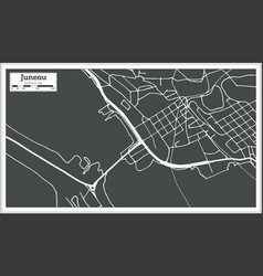 Juneau usa city map in retro style outline map vector
