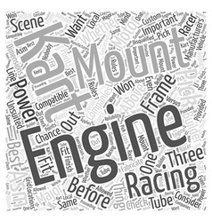 Kart Racing Engines Word Cloud Concept vector