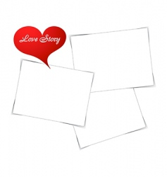love photo frame vector image