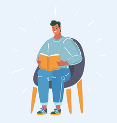 Man read book vector