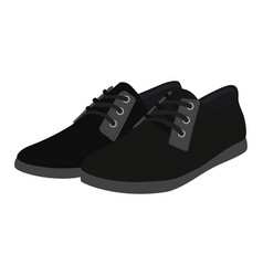 Man shoes icon on a white background black vector