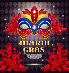 mardi gras party bright poster vector image