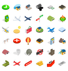 military science icons set isometric style vector image