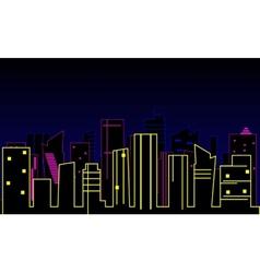 Modern city background vector image