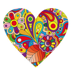 multicolored heart on white vector image