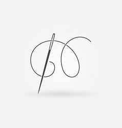 Needle and thread modern icon vector