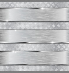 Non slip metallic surface with brushed plates vector