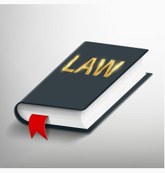 Old legal law book vector