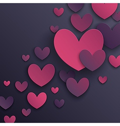 paper hearts2 vector image