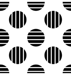Pattern of black striped circles vector image vector image