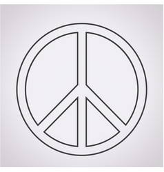 Peace sign icon vector