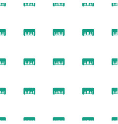 piano toy icon pattern seamless white background vector image
