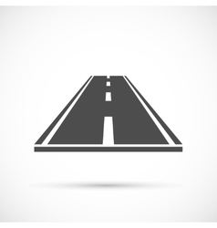 Piece of road icon vector image