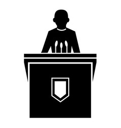 Political election speaker icon simple style vector