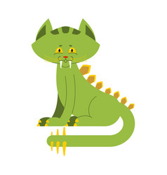 prehistoric cat dinosaur dino is sabre-toothed vector image