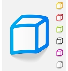 Realistic design element cube vector