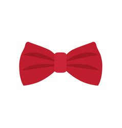 red bowtie icon vector image