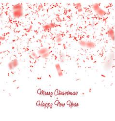 red glitter confetti carnaval paper tinsel vector image