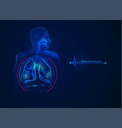 respiratorysystem vector image