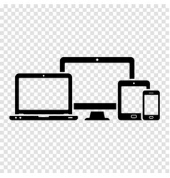 responsive web design icons computer monitor vector image