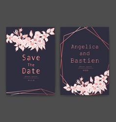 Save date wedding card vector