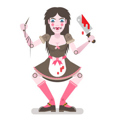 Scary doll vector