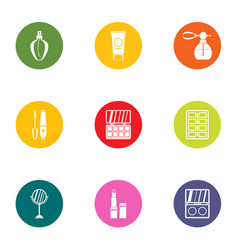 Scent icons set flat style vector
