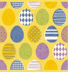 seamless retro easter eggs pattern vector image
