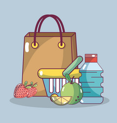 Shopping breakfast food vector
