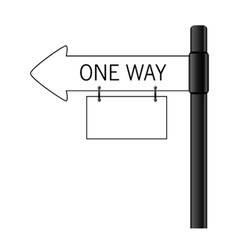 sign one way art vector image