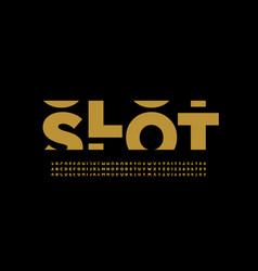 slot machine style font vector image
