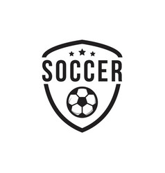 soccer club logo template design vector image