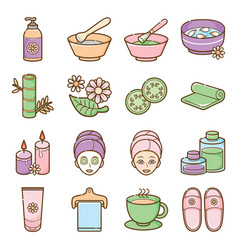 Spa and beauty icon set vector
