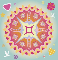 spring power mandala vector image